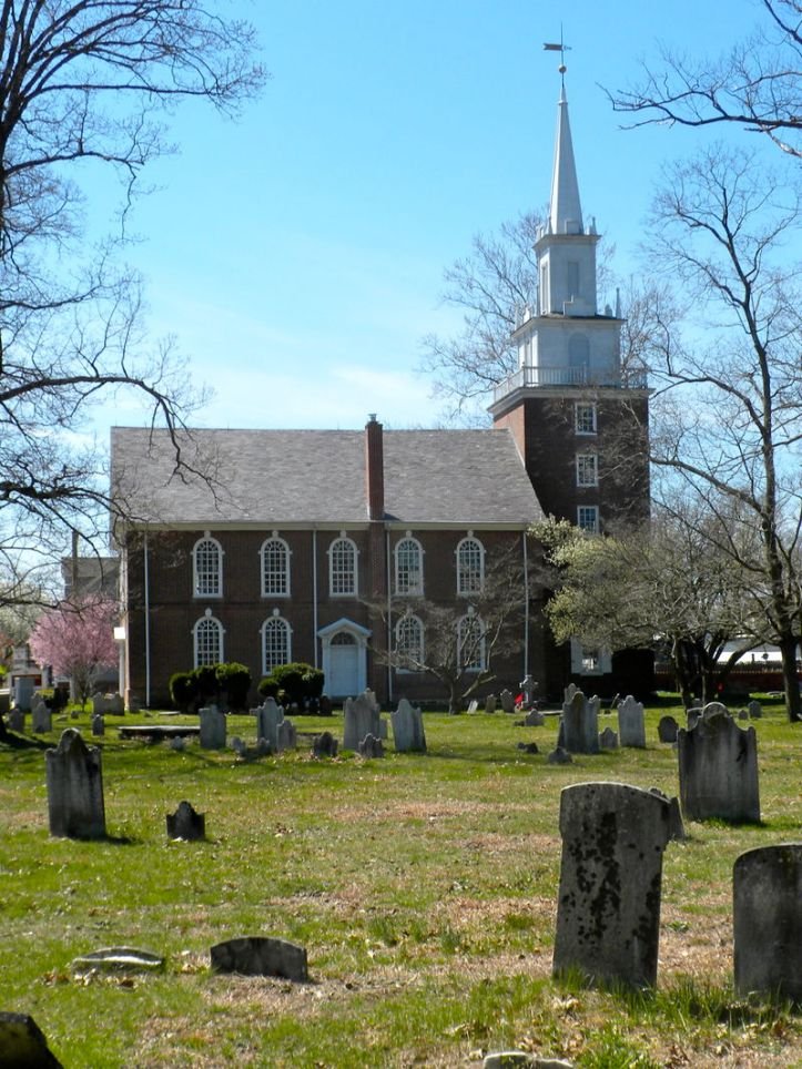 Old Swedes Church in Swedesboro, NJ, now known as Trinity Church. The original log church was built on this site. This church was built in 1784.